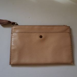 J.Crew 100% leather clutch purse